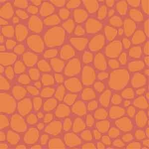 Quilting Treasures - Heads Up - Orange Giraffe Skin