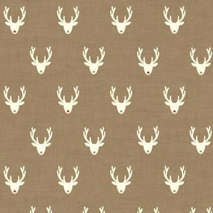Makower Scandi 3 - Stags Hessian