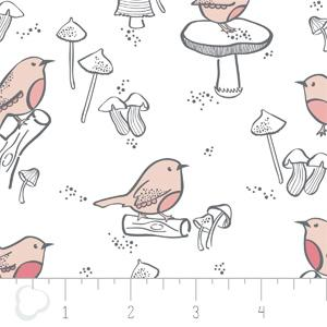 Camelot Fabrics - Little Bird - Birds in White