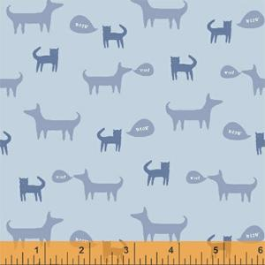 Windham Fabrics Neighbourhood - Cats and Dogs Blue