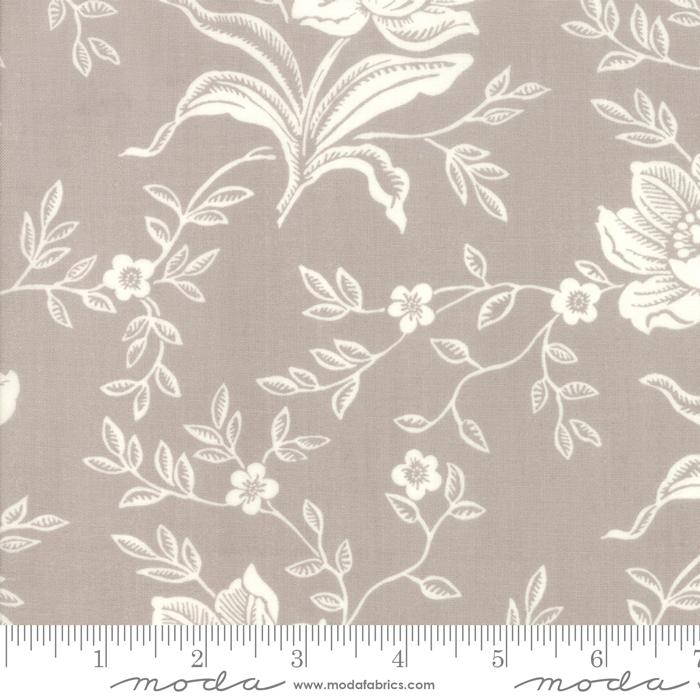 Moda Fabric - All Hallows Eve - Fog Woodblock Floral