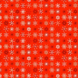 Makower Christmas 2017 Traditional - Snowflakes Red
