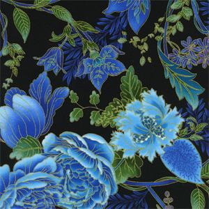 Timeless Treasures - Eden - Floral Black