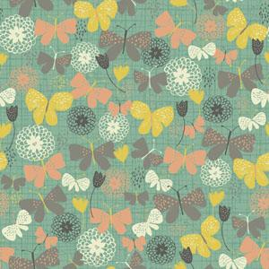 Quilting Treasures - Bloom - Seafoam Butterflies