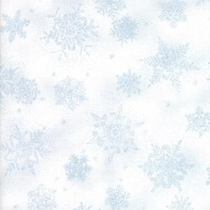 Moda Forest Frost Glitter II - Icy Blue Snowflakes