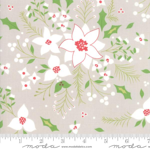 Moda Holliberry - Stone Poinsettia