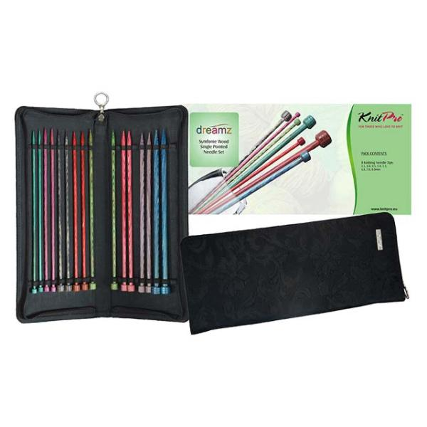 Knit Pro Dreamz Straight Needle Set (25cm/10in)