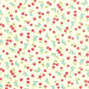 Moda Vintage Picnic - Cream Cherries & Pears