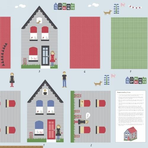 Windham Fabrics Neighbourhood - House Panel