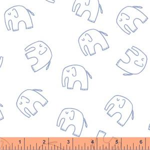 Windham Fabrics Stella - Blue Elephants