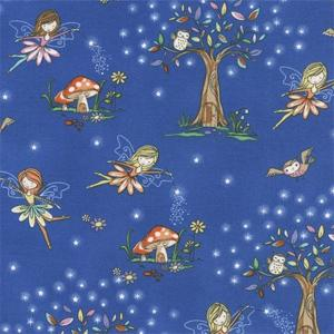 Timeless Treasures - Starry Night Forest - Woodland Fairies