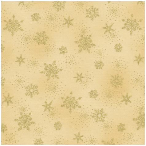Stof Raphael - Gold Snowflakes