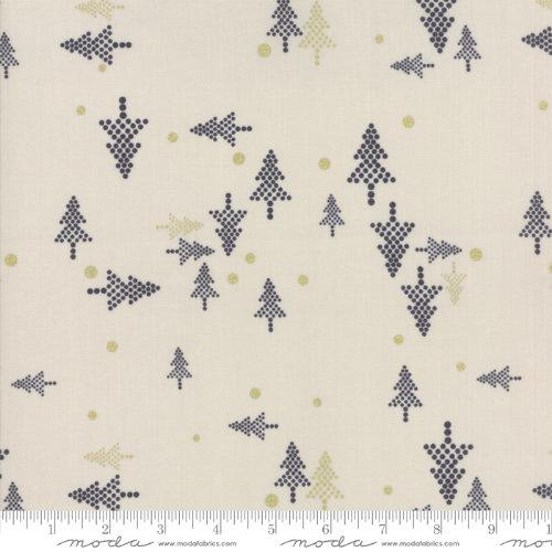 Moda Fabric - White Christmas Metallic - Stone Christmas Tree
