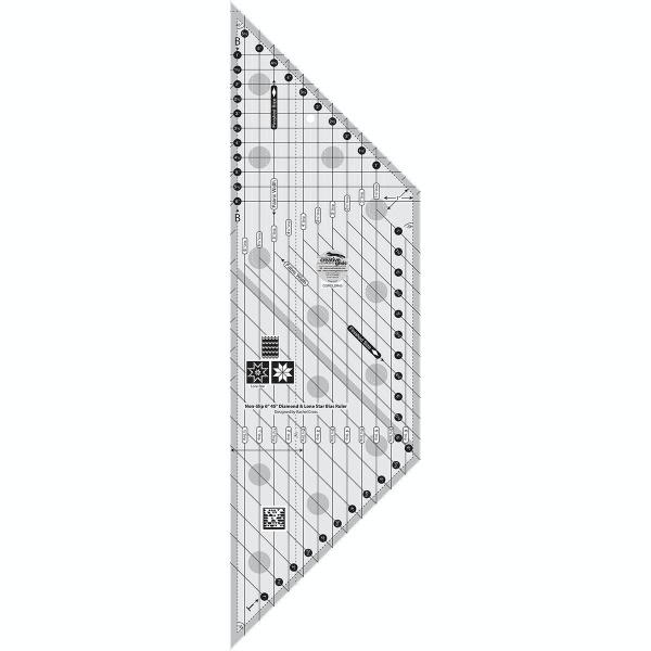 "Creative Grids 6"" Diamond & Lone Star Bias Ruler - CGRDLS45"