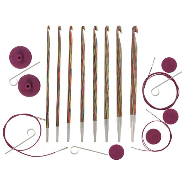 Knit Pro Symfonie Wood Afghan/Tunisian Crochet Hook Set