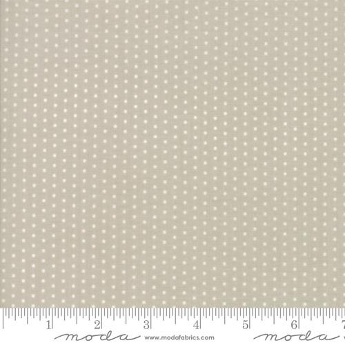 Moda Fabric Hushabye Hollow - Moonbeam Pin Dot