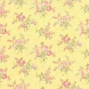 Moda Whitewashed Cottage - Daffodil Daisy Sprays 44066-15