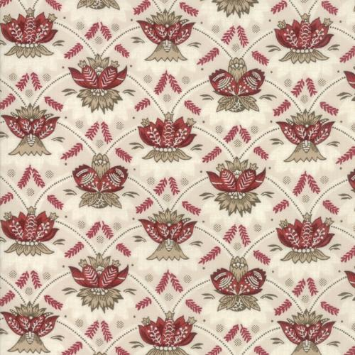 Moda Fabric - Vive La France - Pearl and Rouge Souveraine