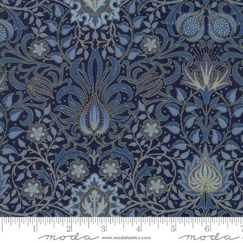 Moda Fabric - Morris Holiday - Indigo Persian