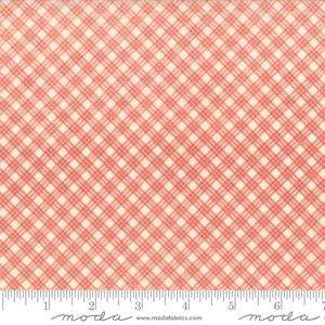 Moda Fabric Snowfall Prints - Poinsettia on Snow Bias Plaid
