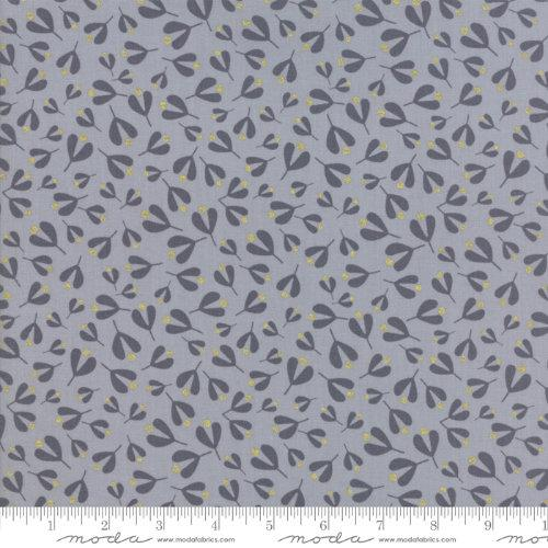 Moda Fabric - White Christmas Metallic - Silver Leaves