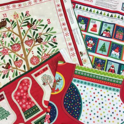 Christmas fabric and advent calendar panels