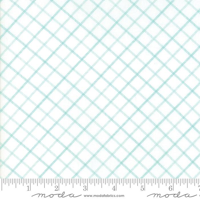 Moda Smitten - Aqua Bias Plaid