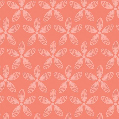 Camelot Fabrics - Folklore - Daisies in Grapefruit