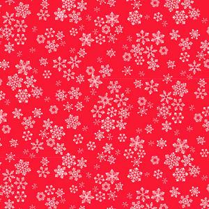 Makower Frosty - Snowflake Red