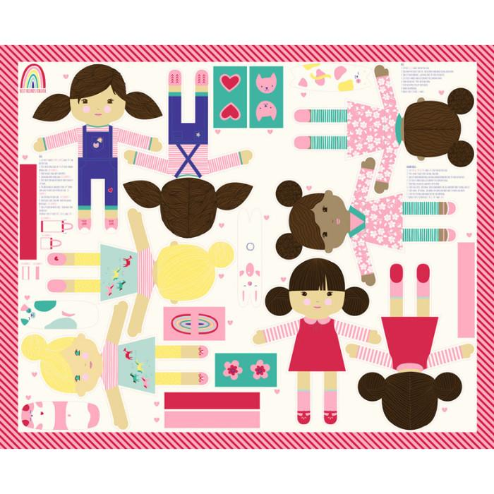 Moda Best Friends Forever - Doll Panel