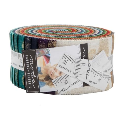 Moda Grunge Metallic Jelly Roll