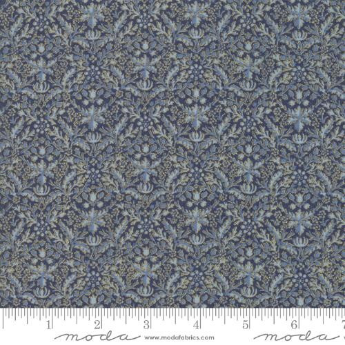 Moda Fabric - Morris Holiday - Indigo Wreathnet