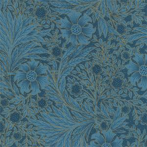 Timeless Treasures - Essex - Sunflower and Foliage Blue