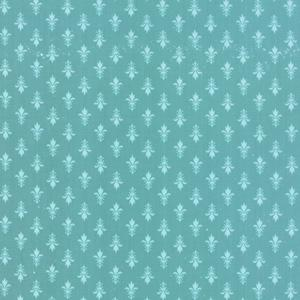 Moda Kindred Spirits - Teal Fleur de Lis 2893-21