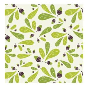 Camelot Fabrics - Whoo's Cute - Acorns & Leaves in Cream