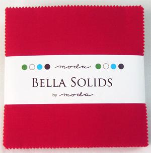 Moda Bella Solids Charm Pack Christmas Red 9900PP-16