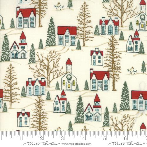 Moda Fabric - Winter Village - White Paper Winter Village