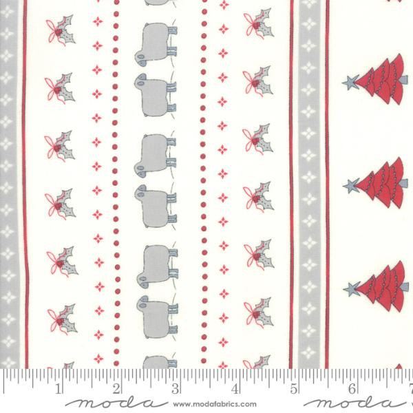 Moda Country Christmas - Christmas Stripe Winter White