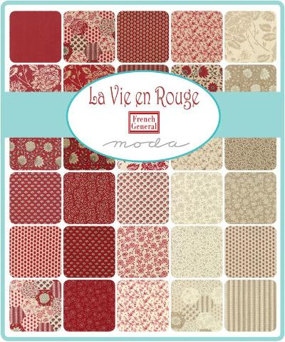 Moda Fabric La Vie en Rouge