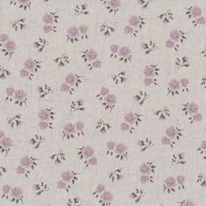Stof Linen Blend - Lilac Roses