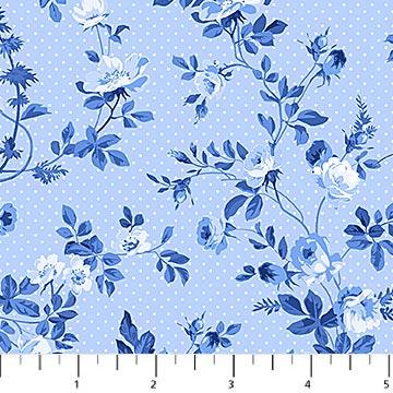 Porcelain Blue - Light Blue Floral