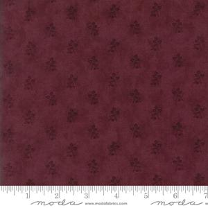 Moda Fabric Courtyard - Bordeaux Rosebud 44126-13