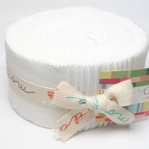 Moda Bella Solids Jelly Roll - White 9900-98