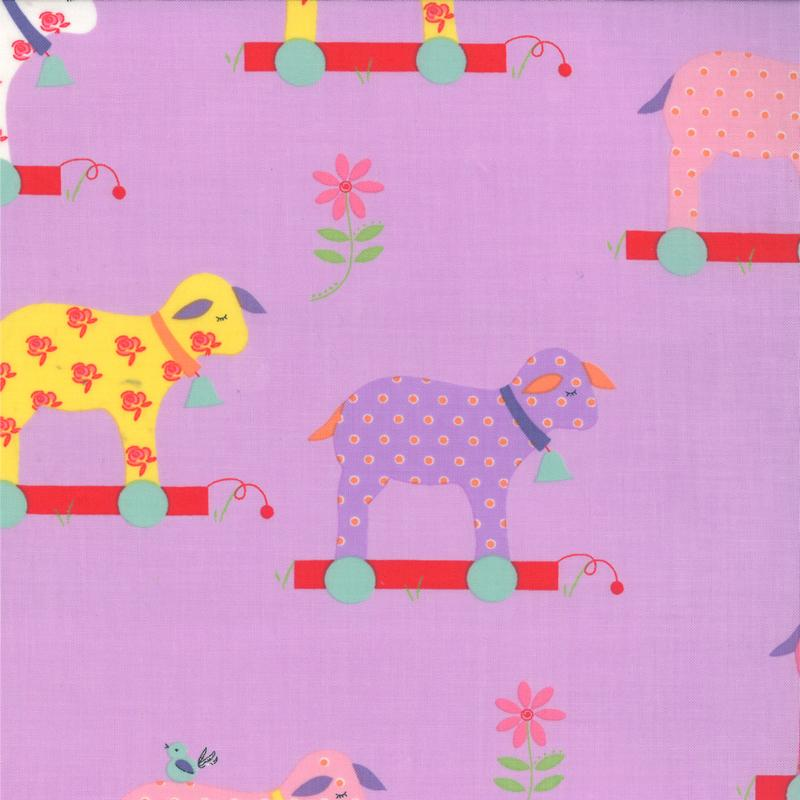 Moda Celebration - Lavender Little Lambs