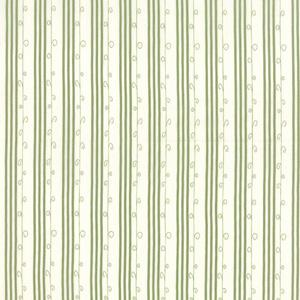 Moda Mistletoe Lane - Sage on Whisper White Stripe 2887-14