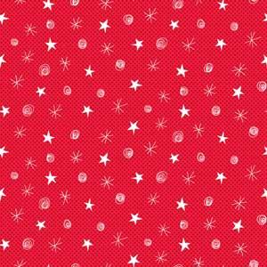 Makower Festive - Sketch Red