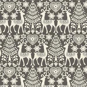 Makower Scandi 3 - Reindeer Grey