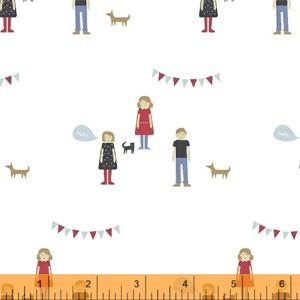 Windham Fabrics Neighbourhood - Boys and Girls White