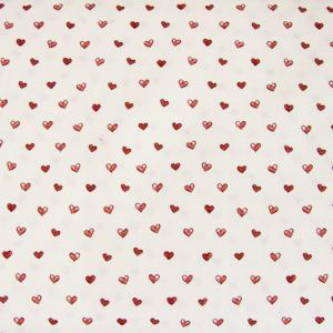 Stof Fabrics - Memory Maas - Hearts on Cream