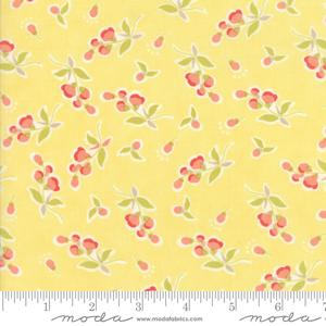 Moda Fabric Coney Island - Buttercup Yellow Posies